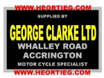 George Clark Accrington Motorcycle Dealer Decals Transfers DDQ57